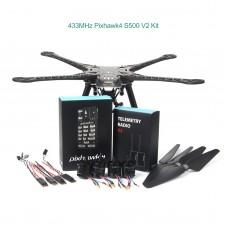 Pixhawk4 S500 V2 Drone Kit w/ 2216-880KV Brushless Motor 1045 Propeller 433MHz Telemetry Radio