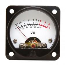 2pcs VU Meter + Driver Board Set Power Amplifier Audio Level Meter LED Backlight White 45mm Round