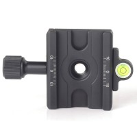 DDC-60L Quick Release Clamp Screw Knob Clamp Jaw Length 60mm For DSLR Tripod Ball Head