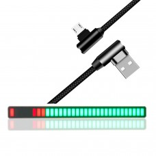 Car Sound Control Music Spectrum Light Bar Audio Music Level Display Decoration Light w/ USB Cable