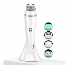 Electric Facial Cleanse Brush 4 in 1 Waterproof Face Washing Machine Facial Pore Blackhead Cleaner Device