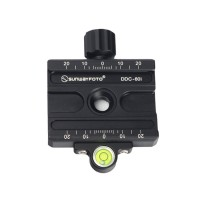 DDC-60i Quick Release Clamp Screw Knob Clamp Jaw Length 60mm For DSLR Tripod Ball Head