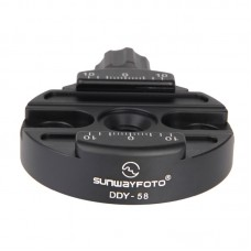 DDY-58 Tripod Head Quick Release Clamp Discal Clamp Diameter 58mm For All Arca-Swiss Style Plates