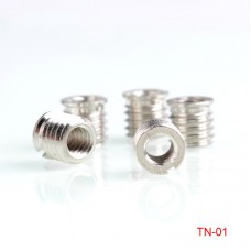 5pcs TN-1 Tripod Adapter Screw Bushing 9mm 1/4-Inch to 3/8-Inch Stainless Steel Photographic Accessories