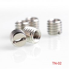 5pcs TN-2 Tripod Adapter Screw Bushing 9mm 1/4-Inch to 3/8-Inch Stainless Steel Slotted Post Type