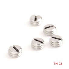 5pcs TN-3 Tripod Adapter Screw Bushing 5.5mm 1/4-Inch to 3/8-Inch Stainless Steel Slotted Post Type