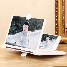 "10"" Mobile Phone Screen Magnifier Video 3D Cell Phone Screen Enlarger Pullout Desktop Holder Stand"