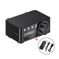 Bluetooth 5.0 Digital Power Amplifier HiFi Class D Stereo Amplifier 50Wx2 USB TF Card Player w/ Power Adapter