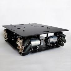 Mecanum Wheel Car Chassis Omnidirectional Smart Robotic Car DIY Kit w/ 140RPM Motor Unassembled Black