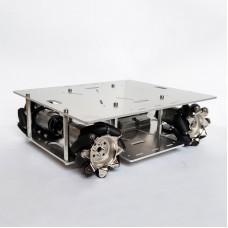 Mecanum Wheel Car Chassis Omnidirectional Smart Robotic Car DIY Kit w/ 140RPM Motor Unassembled White