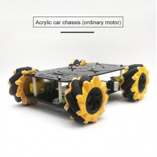 80mm Mecanum Wheel Car Chassis Kit Acrylic Omnidirectional 4WD Smart Robot Car Double-layer Unassembled
