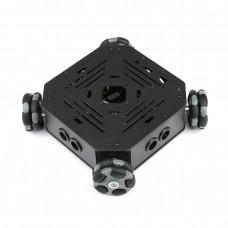 58mm 4WD Omnidirectional Wheel Chassis Mobile Smart Robot Car GA25 Motor for Arduino