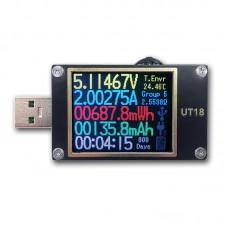 UT18 USB Tester Meter USB Voltage Current Meter Voltmeter Ammeter Charger Detector For QC4+PD3.0 PPS