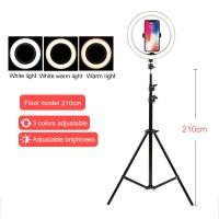 210cm Stand + 26cm Ring Fill Light + One Phone Holder For Vlog Livestream Selfie Photography