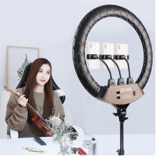 "ZB-F488 22"" Ring Fill Light Dimmable Ring Light w/ Stand Phone Clips For Vlog Live Broadcast Selfie"