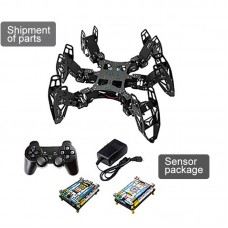 6 Legs Robot Programming Development DIY Kit 3DOF Hexapod Bionic Spider Robot w/ Seosor Unassembled