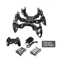 6 Legs Programming Development Robot 3DOF Hexapod Bionic Spider Robot w/ Sensor Unassembled