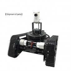Smart Robotic Car DIY Kit Track Crawler Robot Tracked Car WiFi Remote Control Video Transmission Unassembled