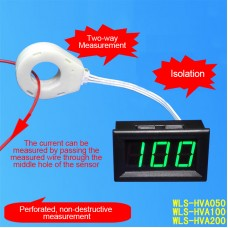 DC 100A Hall Current Voltmeter Isolated Digital Voltage Current Meter w/ Anti-reverse Connection