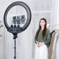 """SLP-G500 18"""" Ring Fill Light Dimmable Ring Light w/ Stand Phone Clips For Vlog Live Broadcast Selfie"""