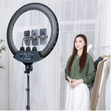 "SLP-G500 18"" Ring Fill Light Dimmable Ring Light w/ Stand Phone Clips For Vlog Live Broadcast Selfie"