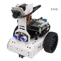GoGoPi Smart Robot Car Kit Unassembled AI Tracking Robot Car w/ Control Board For Raspberry Pi 4B 4G