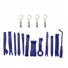 16pcs Blue Car Trim Removal Tool Set Kit for Audio System Panel Dashboard Zip-Lock Bag Packing