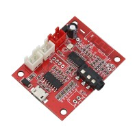 Bluetooth 4.2 Receiving Board Audio Input AUX w/ 5W*2 Power Amp 3.7V-5.3V Battery Charging Port