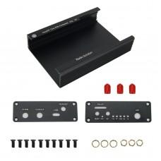 Metal Case Black Aluminum Case Cover Shell for PortaPack H2 / HackRF One SDR Radio