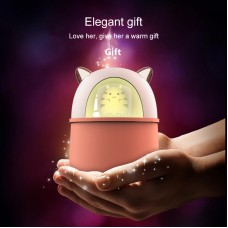 USB Mini Humidifier Mute Air Sprayer Diffuser Fogger Mist Maker 300ML w/ Colorful Light for Home Bedroom