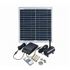 15W Solar Powered Fountain Water Pump Remote Control Floating Garden Pool Landscape Fountain