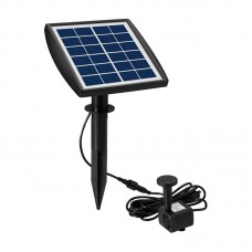 6V 2W Solar Powered Fountain Pluggable Outdoor Solar Landscape Fountain Water Pump for Garden Pool