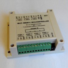 WiFi 5V-24V Controller for WS2811/ WS2812/ WS2812B 7 Universes Output Up to 1190 Pixels