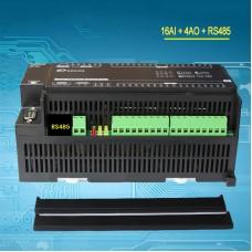 16 Analog Input 4 Analog Output Module For Modbus RTU IO Module RTU-308J 16AI + 4AO + RS485