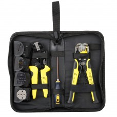 PARON 4 In 1 Wire Crimper Tool Set Ratchet Terminals Crimping Pliers JX-D4301 with Wire Stripper