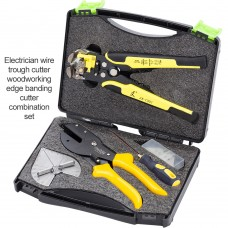 Wire Stripping Shears Set Crimping Pliers Scissor Angle Cutter Terminals Wire Stripper Tools Kit