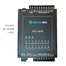Industrial Controller Button Status Acquisition Upload To Host Computer RTU-307G 16DI RS485 + RS232
