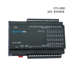 Industrial Controller Button Status Acquisition Upload To Host Computer RTU-308D 32DI RS485