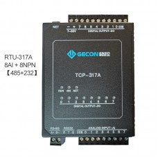 8AI + 8NPN Data Acquisition Module For MODBUS-RTU Industrial Controller RTU-317A [RS485+RS232]