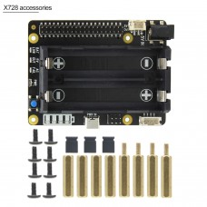 X728 Expansion Board UPS Power Management Board Automatic Startup Safe Shutdown for Raspberry Pi