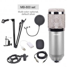 BM-800 Professional Condenser Microphone Set Cardioid Directional Mic for Mobile Phone Computer KTV
