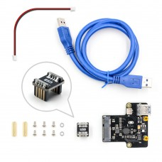 For Raspberry Pi X850 mSATA SSD Hard Drive Expansion Board Ideal NAS Storage Solution Support 1TB