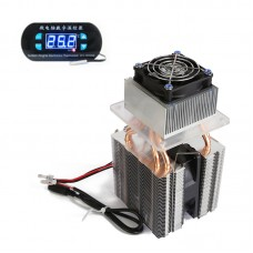 DIY Semiconductor Refrigeration Device Homemade Small Refrigerator Air Conditioner w/ Temperature Controller