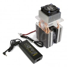 DIY Semiconductor Cooling Refrigeration Device Homemade Small Refrigerator Air Conditioner w/ Power