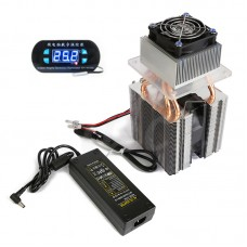 DIY Semiconductor Refrigeration Device Homemade Small Refrigerator Air Conditioner w/ Temperature Controller Power