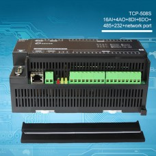 TCP-508S Data Acquisition Industrial Controller Module 16AI+4AO+8DI+6DO + RS485 + RS232 + Ethernet