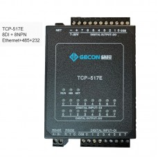 8DI + 8NPN Industrial Controller Data Acquisition For MODBUS TCP TCP-517E [Ethernet + RS485 + RS232]