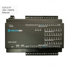 TCP-517F 16DI + 16NPN Industrial Data Acquisition Module For MODBUS [Ethernet Communications]