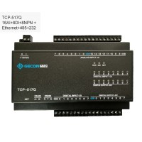 TCP-517Q Industrial Data Acquisition For MODBUS TCP 16AI + 8DI + 8NPN + Ethernet + RS485 + RS232