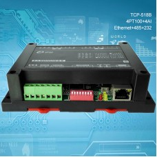 4PT100 + 4AI Industrial Controller Data Acquisition For MODBUS TCP-518B [Ethernet + RS485 + RS232]